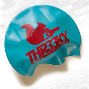 Rough Water Swimming Silicone Cap Sky Blue!