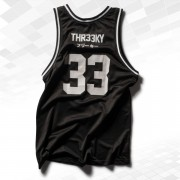 "Thr33ky-Basketball-Tanktop ""Dirty White"""
