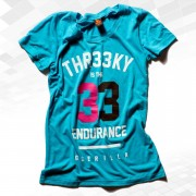 "Thr33ky-Triblend-Shirt ""33 Endurance Guerilla"" Girls aqua"