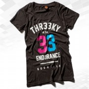 "Thr33ky-Triblend-Shirt ""33 Endurance Guerilla"" Girls charcoal"