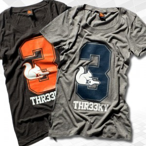 "Thr33ky-Triblend-Shirt ""Big 3"" Girls"