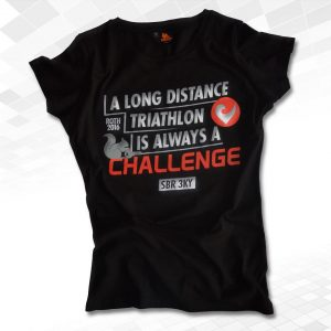 "Thr33ky-T-Shirt ""A Long Distance"" Girls"
