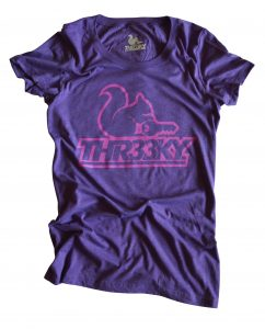 Triblend-Shirt Squirrel Outlines Girls Purple