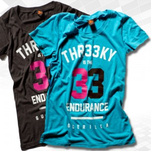"Thr33ky-Triblend-Shirt ""33 Endurance Guerilla"" Girls"
