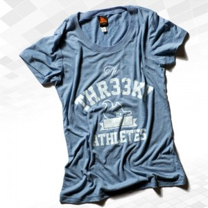 "Thr33ky-Triblend-Shirt ""Threeky-Athletes"" Girls"
